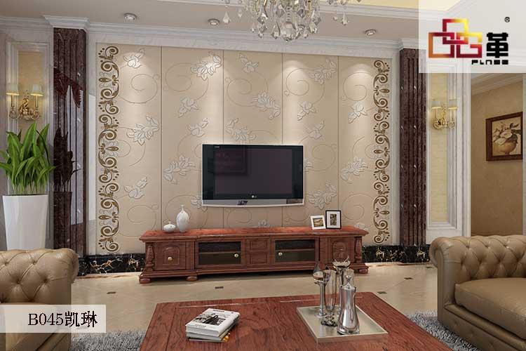 品革背景墙厂家教你呀~  现代风格的客厅装修展现的是清雅的装修风格