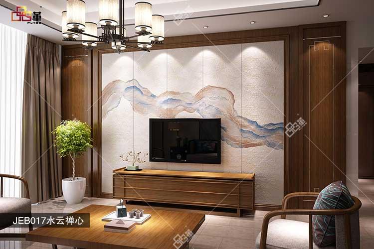喜欢新中式?品革6D皮雕背景墙厂家满足你