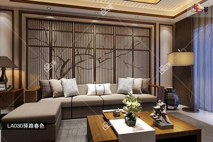 品革浮雕背景墙塑造出让人过目不忘的中国风墙面