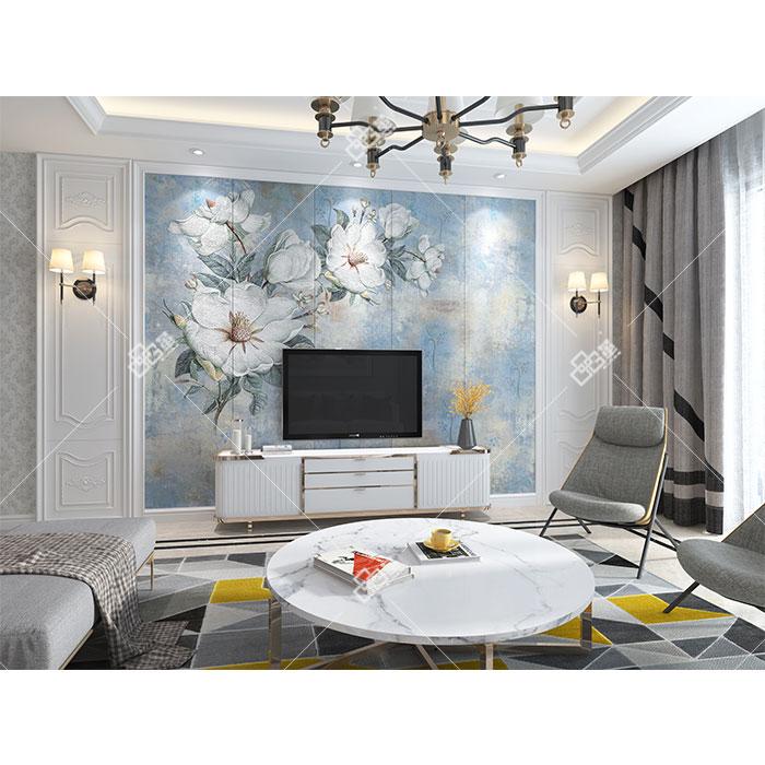 整体艺术墙-LC091蓝倩+背景墙组合框KA001