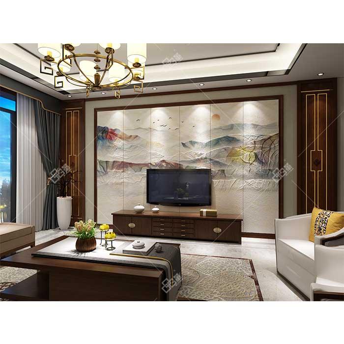 LC090丹霞+背景墙组合框KA002