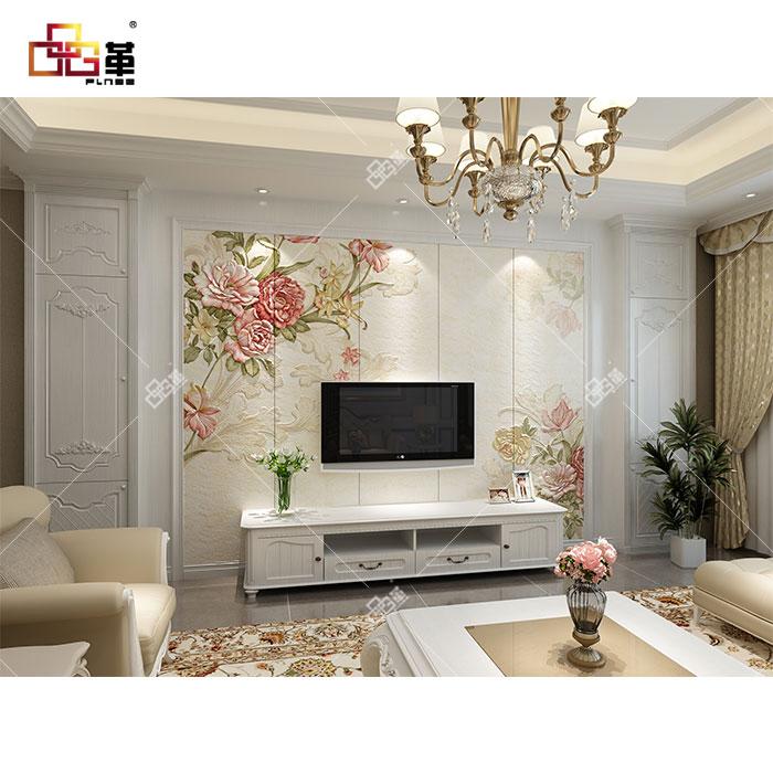 整体背景墙-LC047蔷薇+背景墙组合框GA001