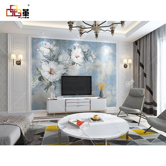 整体背景墙-LC091蓝倩+背景墙组合框KA001